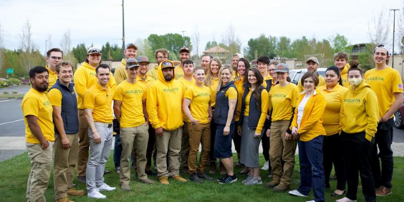 Photo a the Augusta Lawn Care team.