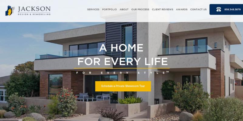 Jackson Design & Remodeling homepage.