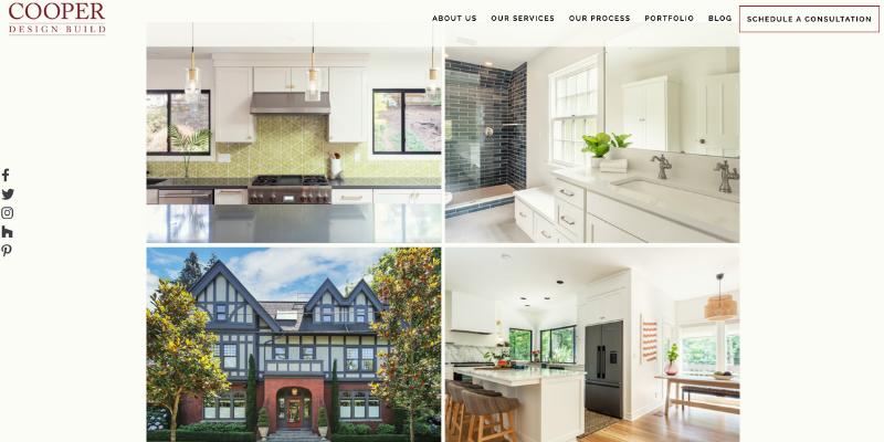 Cooper Design Build homepage.