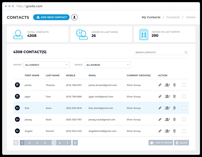 Gosite-Contact-Hub
