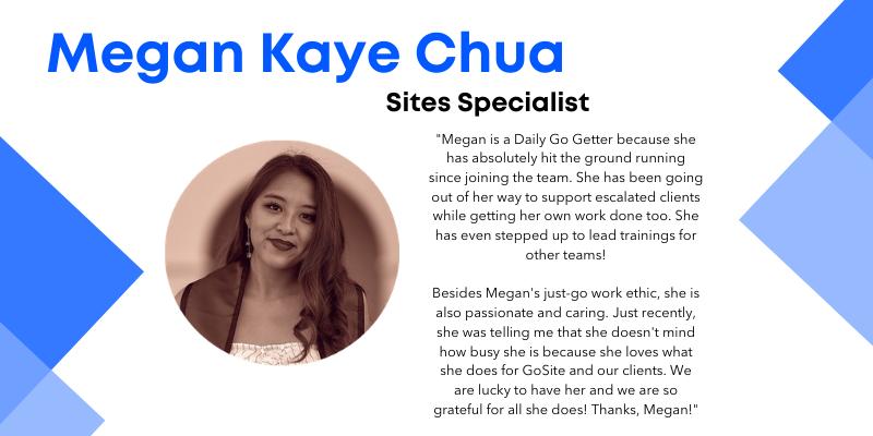 Megan Kaye Chua sites specialist