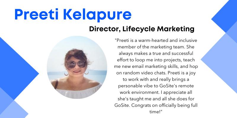 Preeti Kelapure director, lifecycle marketing