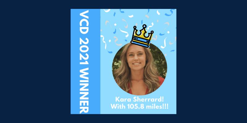 photo of kara sherrard, the gosite virtual charity dash winner