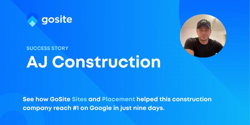 AJ Construction intro page