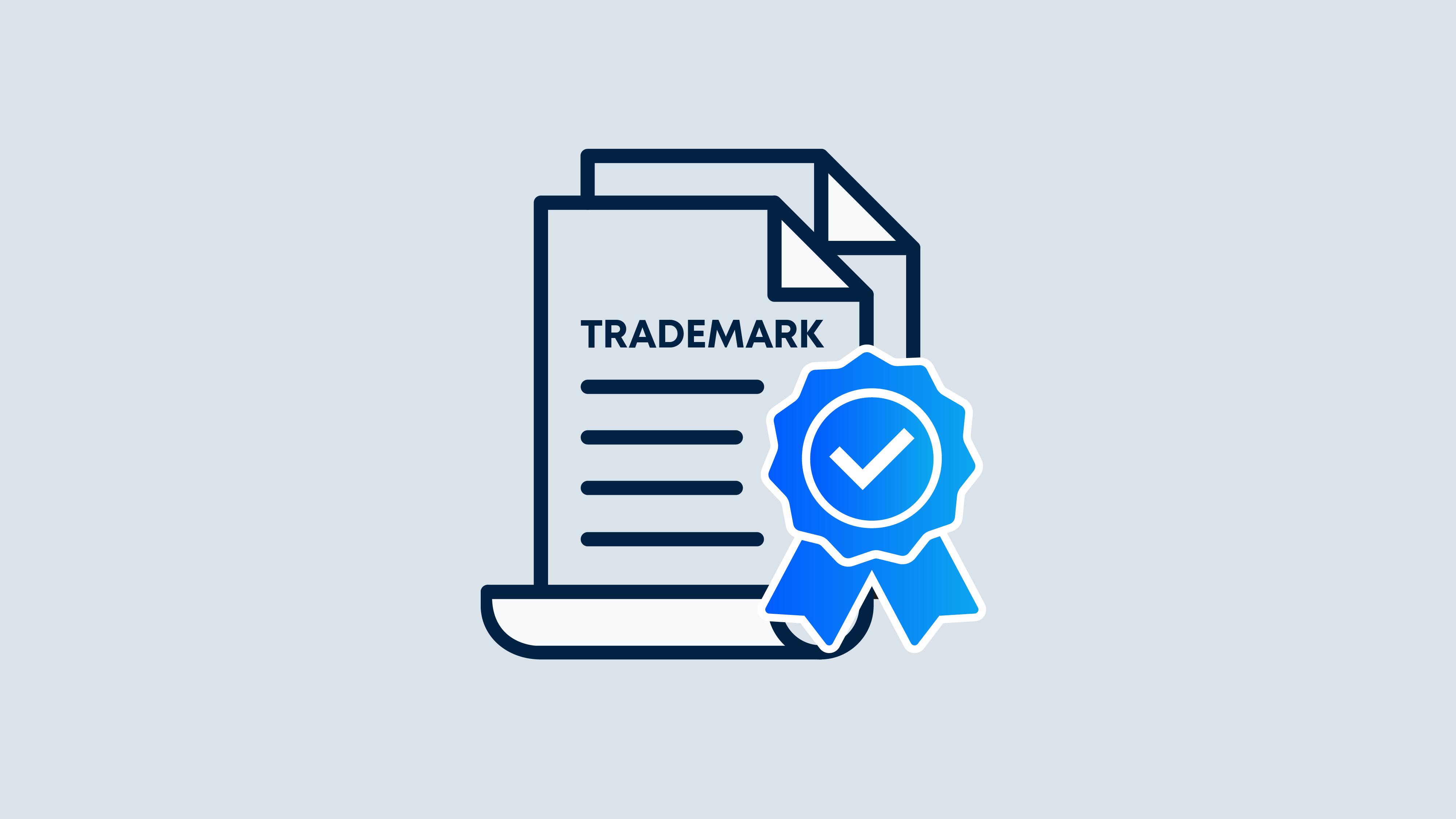 Illustration of a trademark registration.